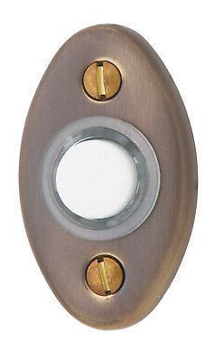 Baldwin 4852 2 Inch x 1-1/8 Inch Solid Brass Oval Door Bell