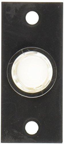 Baldwin 4853402 Rectangular Bell Button, Distressed Oil Rubb