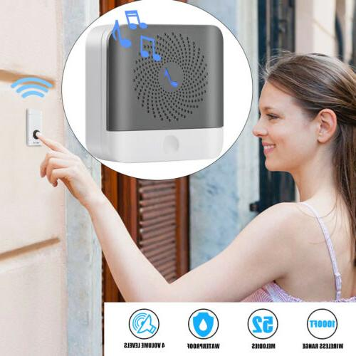 52 chimes songs waterproof wireless door bell