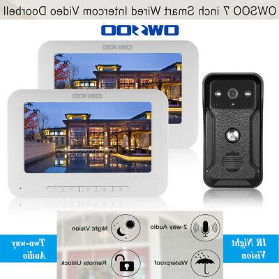 """OWSOO 7"""" Wired Video Visual Doorbell G4R6"""