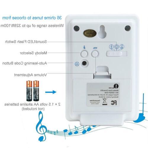 Wireless Doorbell Battery Door with Button for Home