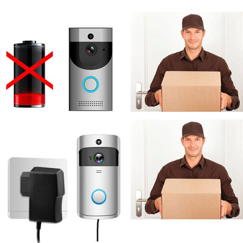 EU Plug Charger <font><b>Transformer</b></font> AC/DC EKEN Wifi <font><b>Doorbell</b></font> IP Video Intercom Ring