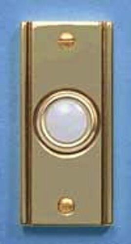 antique brass rectangular doorbell push button decorative