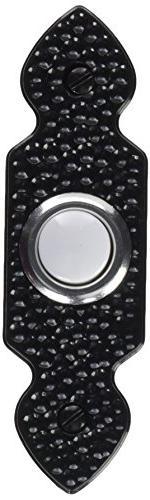 Antique-Design Push Button, Black Heath/Zenith Receptacles a