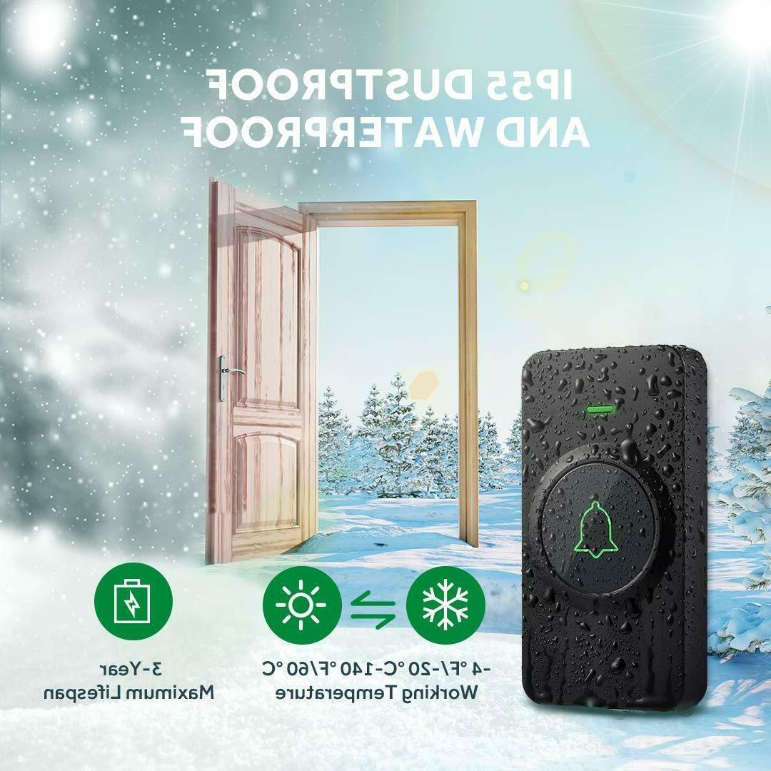 AVANTEK Waterpoof Wireless Chime Memory Function