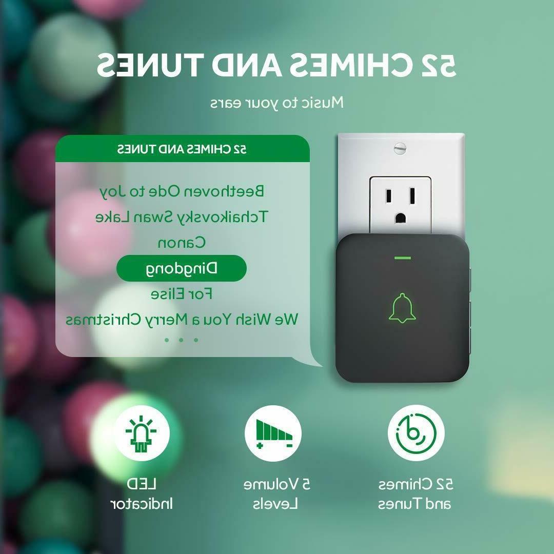 AVANTEK Wireless Doorbell Chime with
