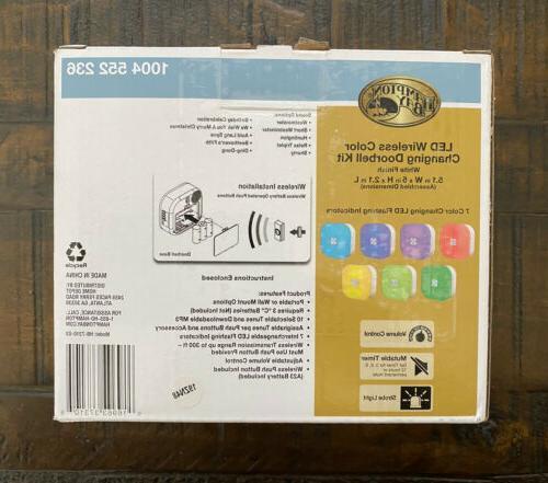 Hampton Bay Wireless Color Doorbell Kit White