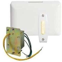 Broan-NuTone BK140SLPB Chime, 1 lighted stucco pushbutton in