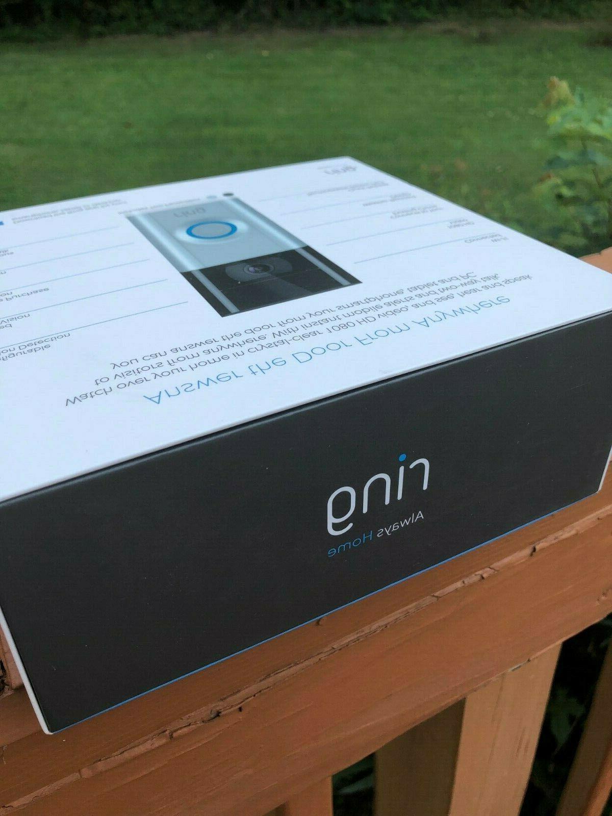 BRAND NEW! Ring Video Doorbell 2 Wire-Free Video Doorbell Year Warranty!