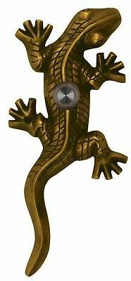 Waterwood Brass Large Lizard/Gecko Doorbell in Antique Brass