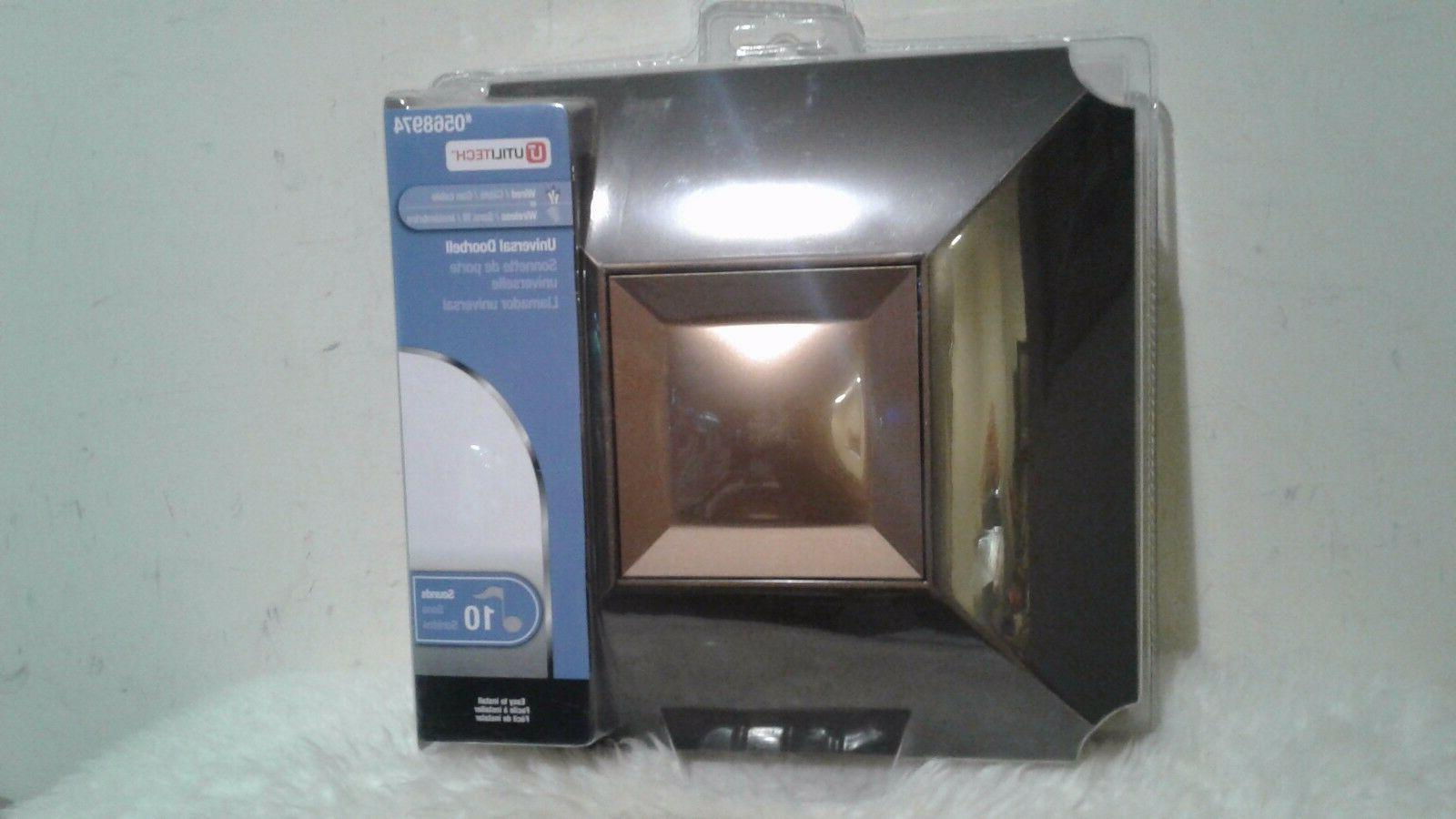 NEW Utilitech Bronze Wireless Doorbell 10 Sounds Item 056897