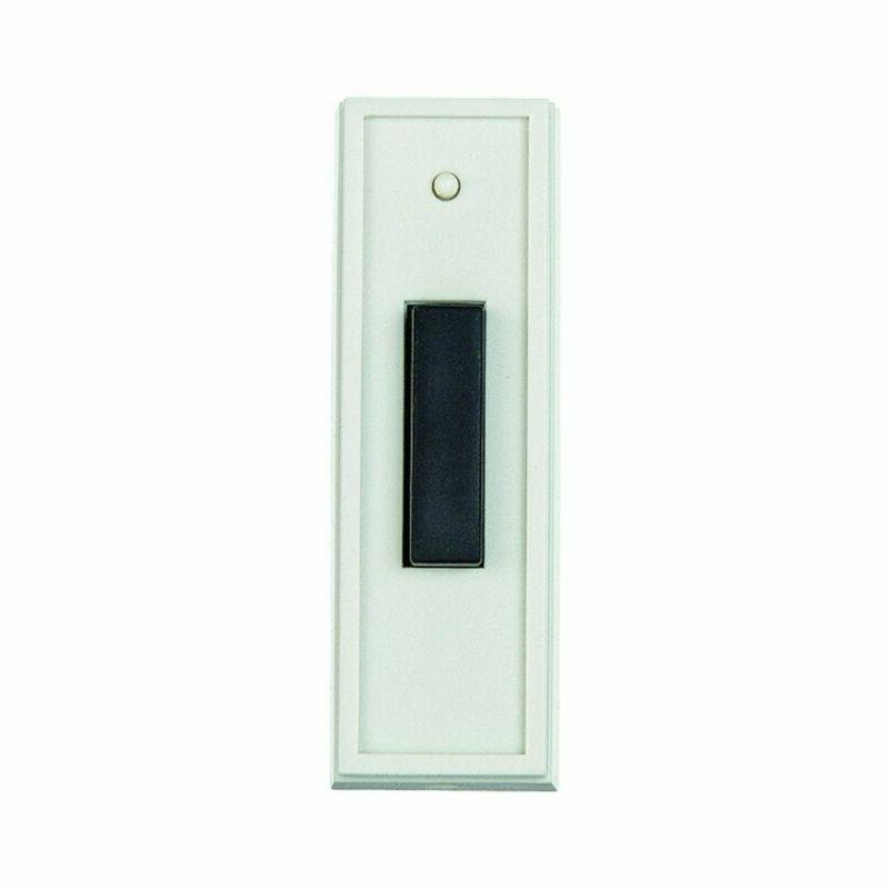 Carlon Lamson & Sessons RC3301 White With Black Doorbell Tra