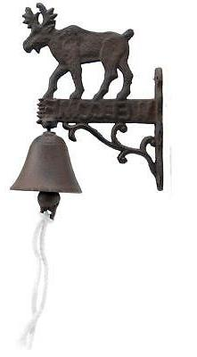 Cast Iron Dinner Bell Moose Welcome Sign