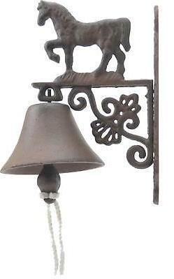 Cast Iron Dinner Bell Walking Horse Doorbell Farm Ranch Home