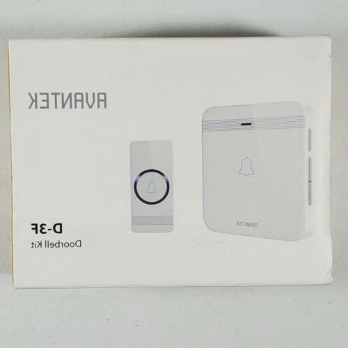 d 3f wireless doorbell waterproof chime kit