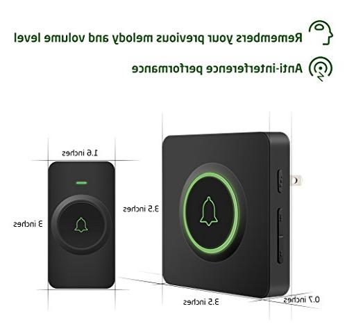 AVANTEK Waterproof Wireless Doorbell Operating at 1300 Buttons Can Tones, Melodies, Quality Sound and Flash