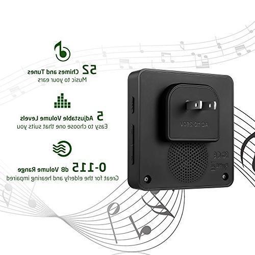 AVANTEK DB-21 Doorbell 1300 Feet, 2 Buttons Can Tones, Melodies, CD Quality