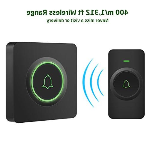 AVANTEK DB-21 Waterproof Wireless Doorbell Operating 1300 Buttons Can Tones, 52 Melodies, CD Quality and Flash