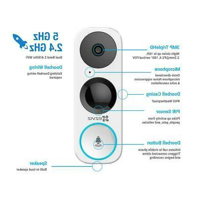 EZVIZ DB1 3MP Smart Doorbell #EZDB11B3