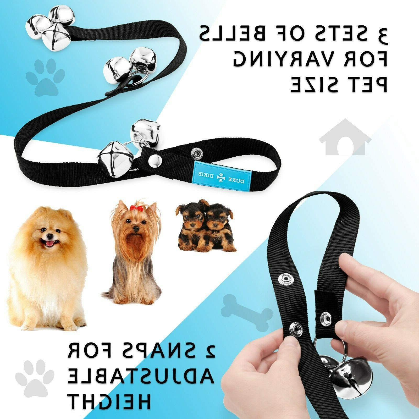 Dog Door Bell For Potty Training 7 Large + FREE