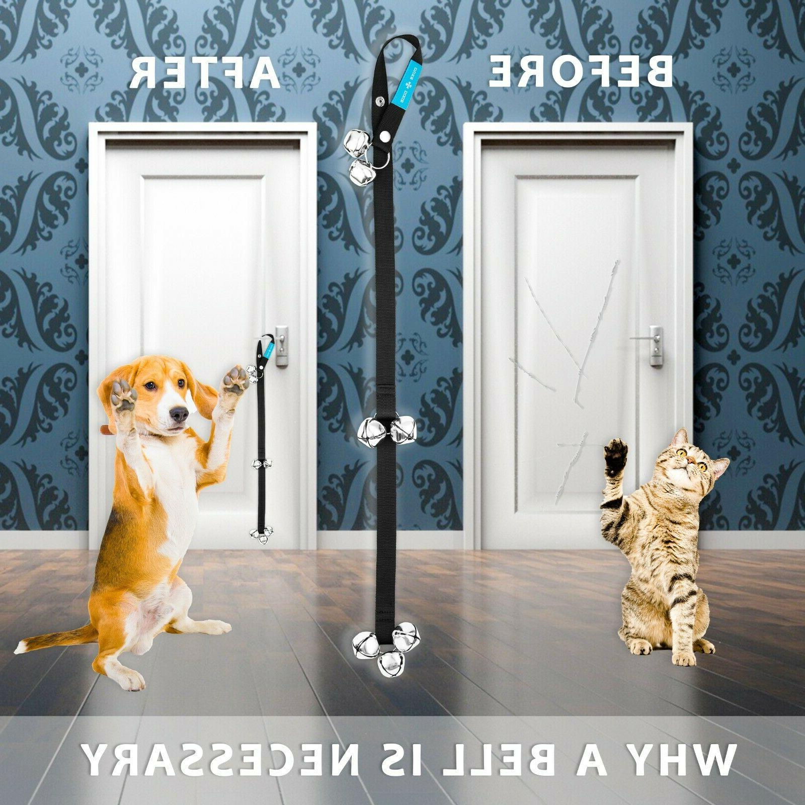 Dog Door For Potty Training Large Bells + FREE Whistle
