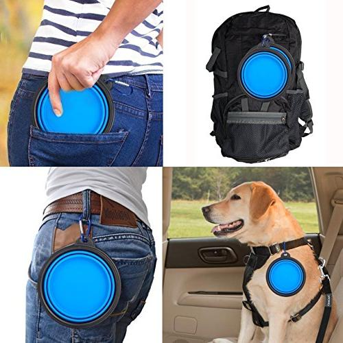Dog Door Bell Pet Cat Dog Collapsible Bowl Training training bells for door,Scientific Training