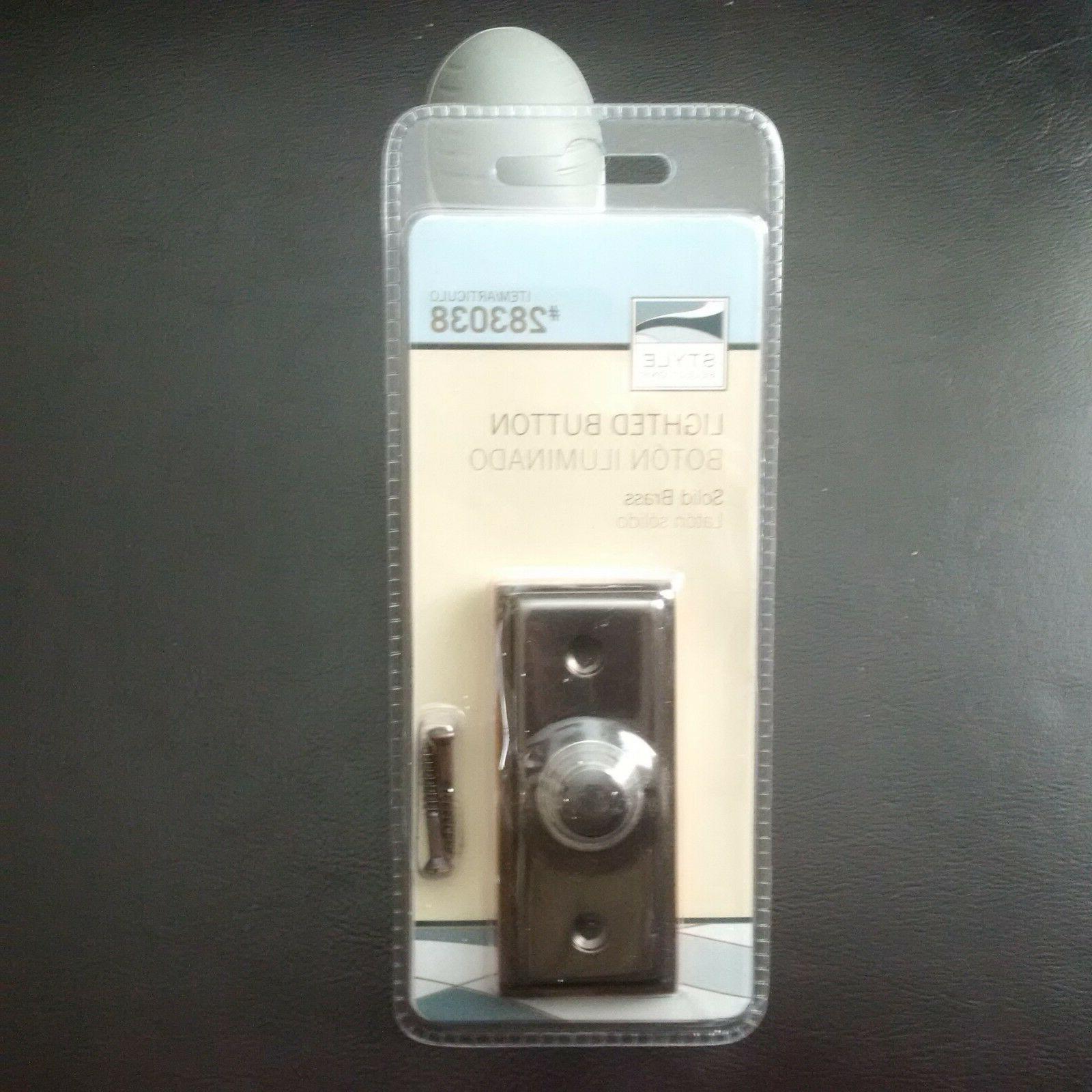 Picture of: Door Bell Bronze Lighted Button Doorbell Solid Brass