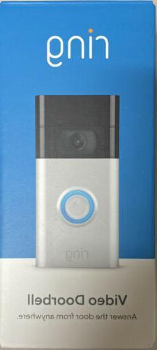 Ring Doorbell  Satin Nickel Motion-Activated Video Doorbell