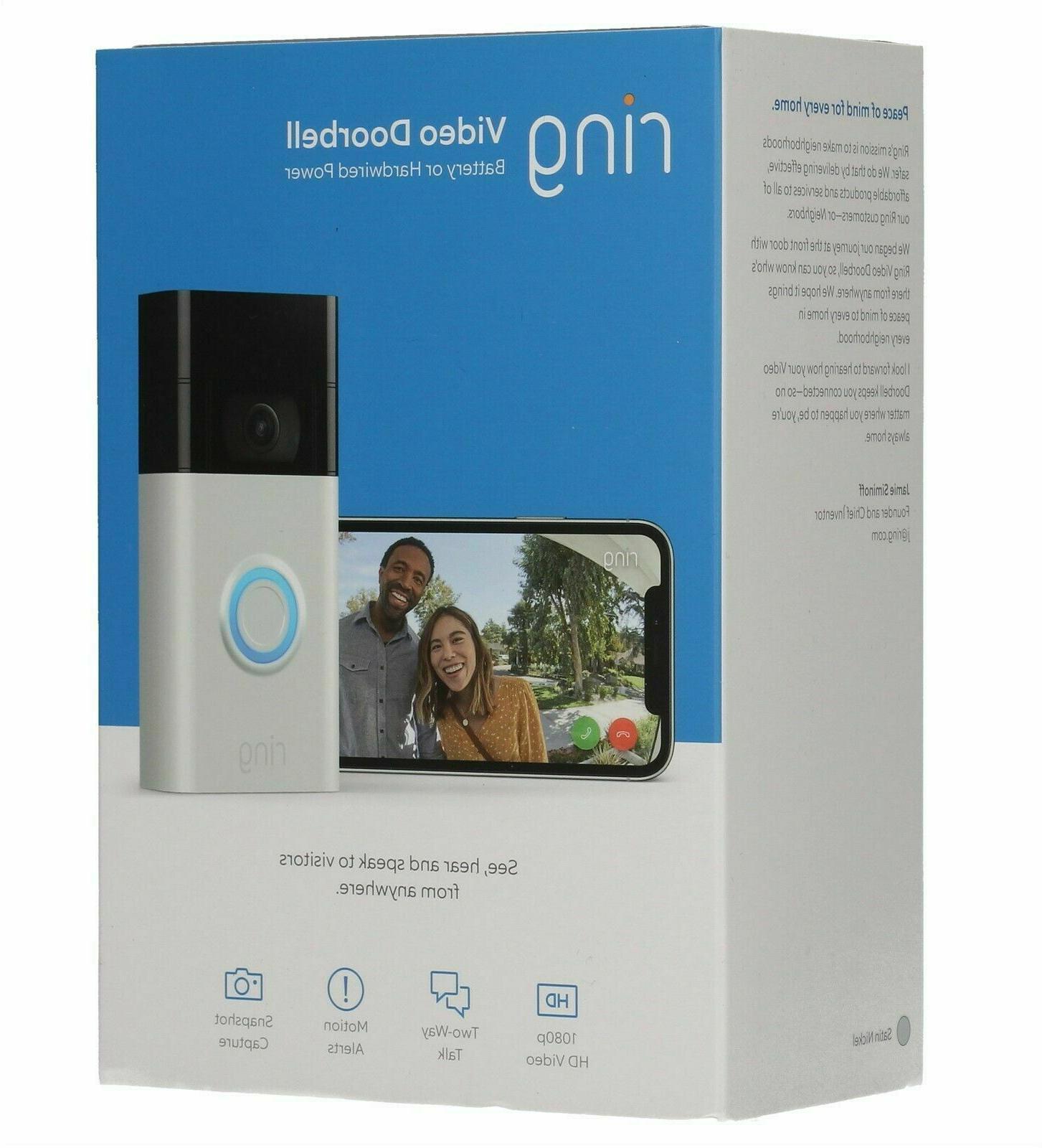 doorbell 2nd gen satin nickel motion activated