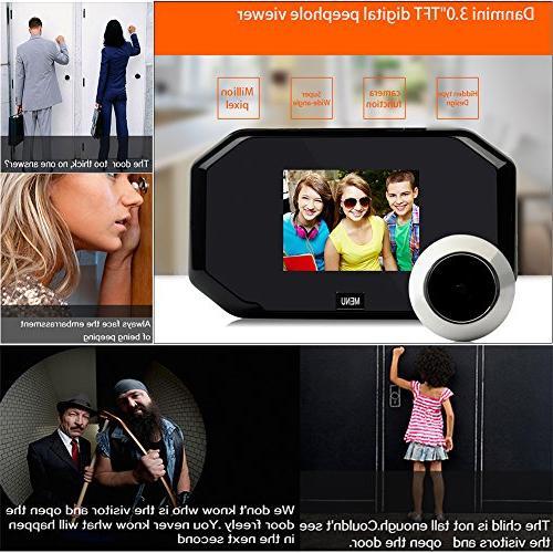 Peephole Awakingdemi 3.0 Door Viewer Security with 2 Mega Pixel Camera, 145