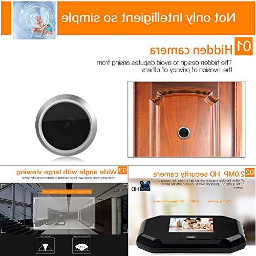 Peephole Viewer, Awakingdemi Viewer Camera with 2 Million Camera, 145 for Home Security