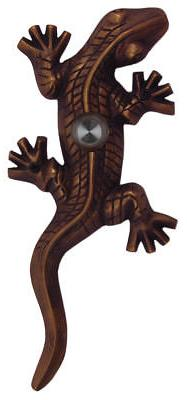 Doorbell Large Gecko Designer Oil Rubbed Bronze Lighted Butt