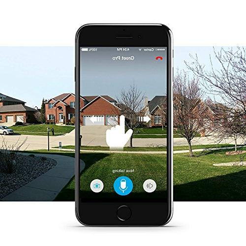 Zmodo Smart Video Security Camera 180 Viewing Works Alexa