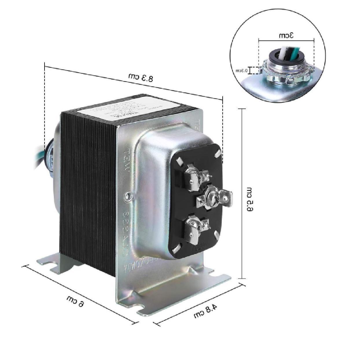 Doorbell Transformer, 8V/16V/24V, 20-30VA Comptible with Doorbell Pro