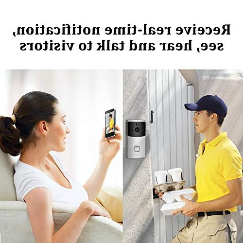Doorbell Camera PIR Detection HD Doorbell Home Security with & Support Android