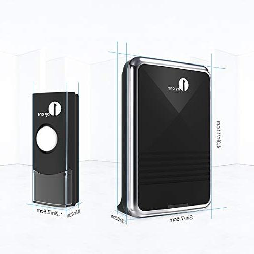 1byone Doorbell 1 & 1 with Flash, 36 to Choose, Battery