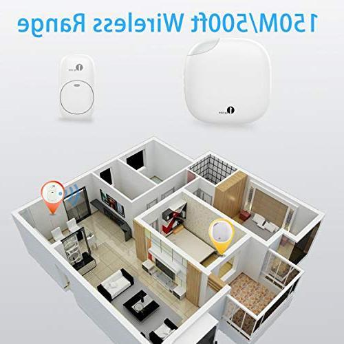 1byone Chime Wireless 500 feet, Sound LED 6 36 Chimes,