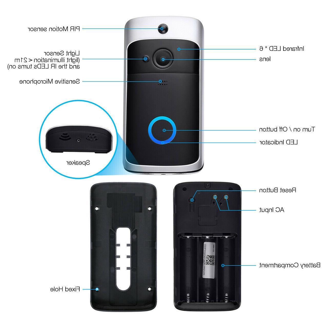 Two-Way Wireless Doorbell HD Talk Camera