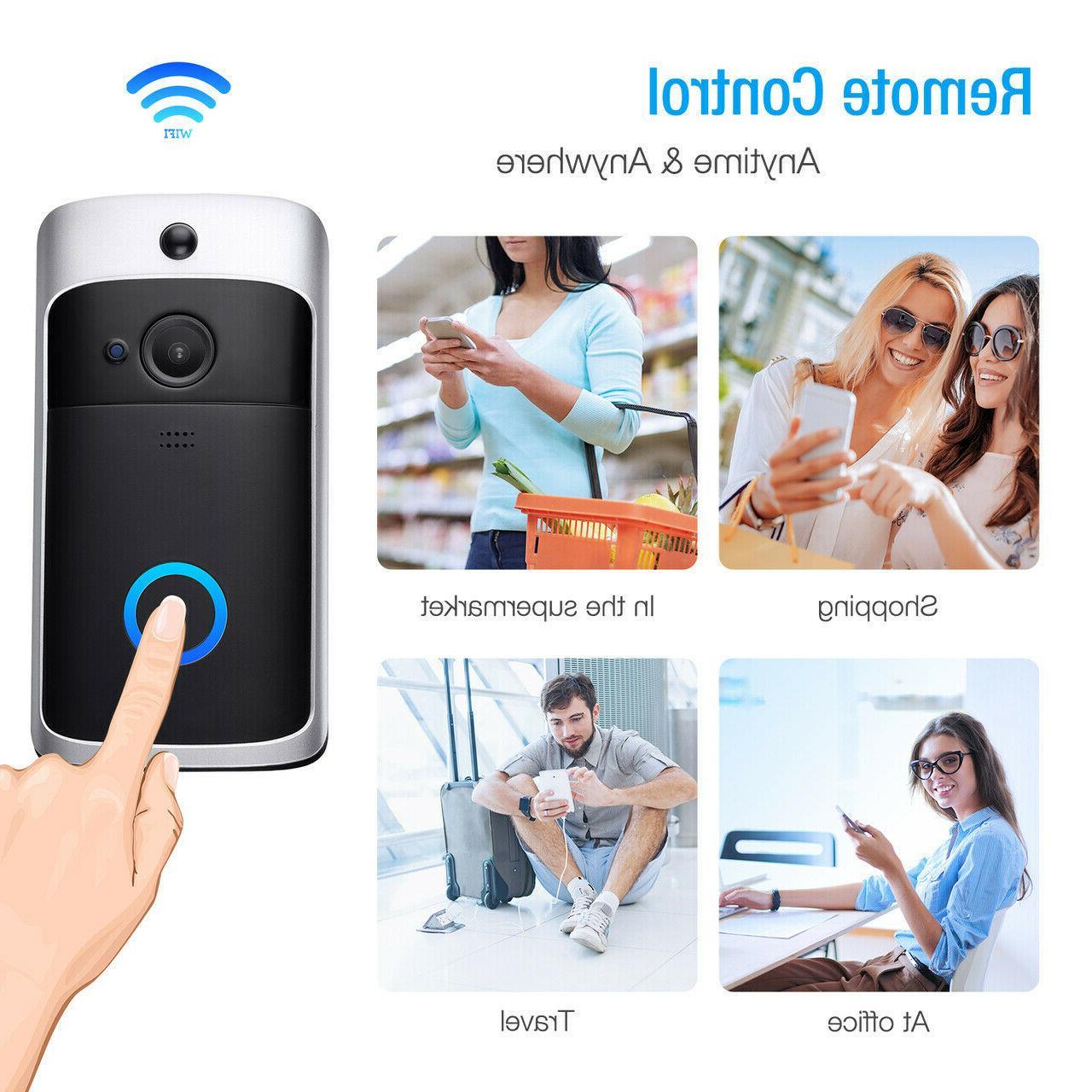 WiFi Wireless Doorbell Video Two-Way Talk PIR Door Security