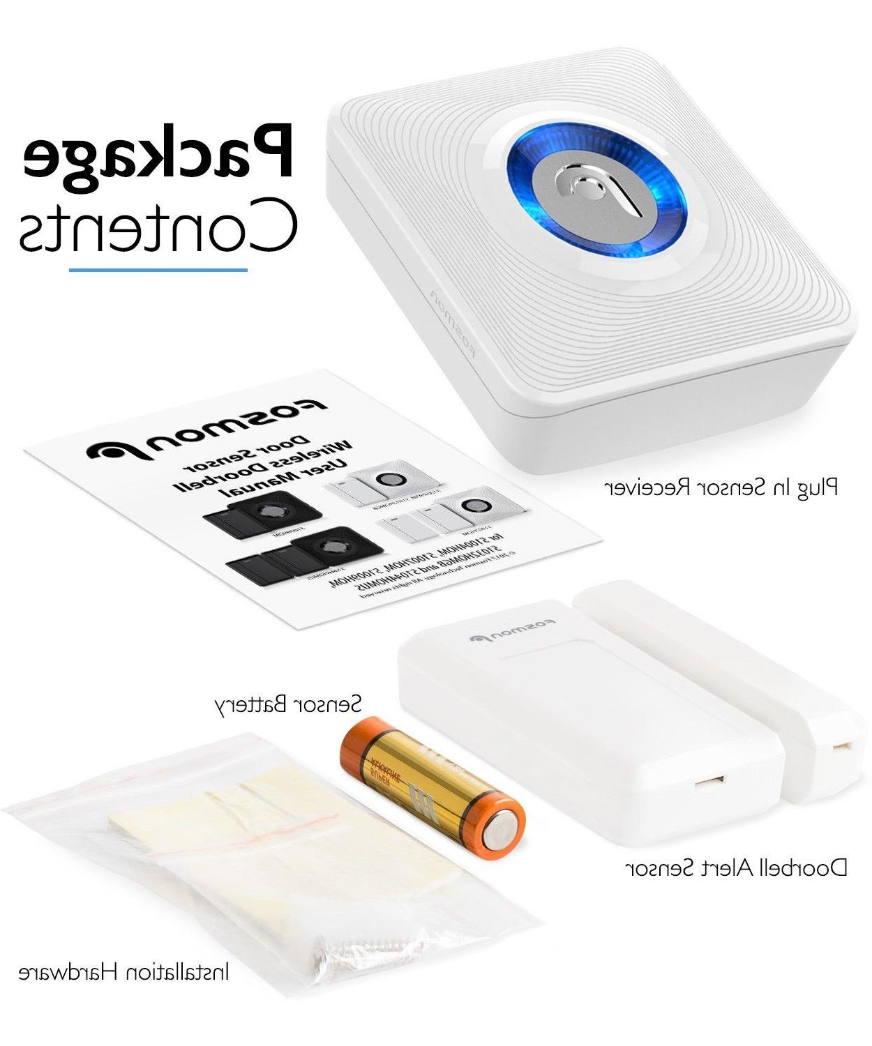 EU Chime Entry Alarm Doorbell Magnetic