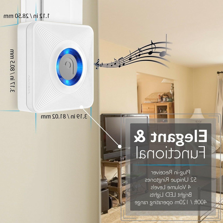 EU Wireless Open Chime Security Doorbell Magnetic Sensor