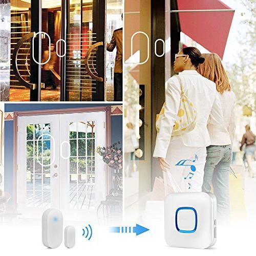 HEHUI Open Door Entry Alarm With in 4 /1 Door Sensor & Plug-in Receiver