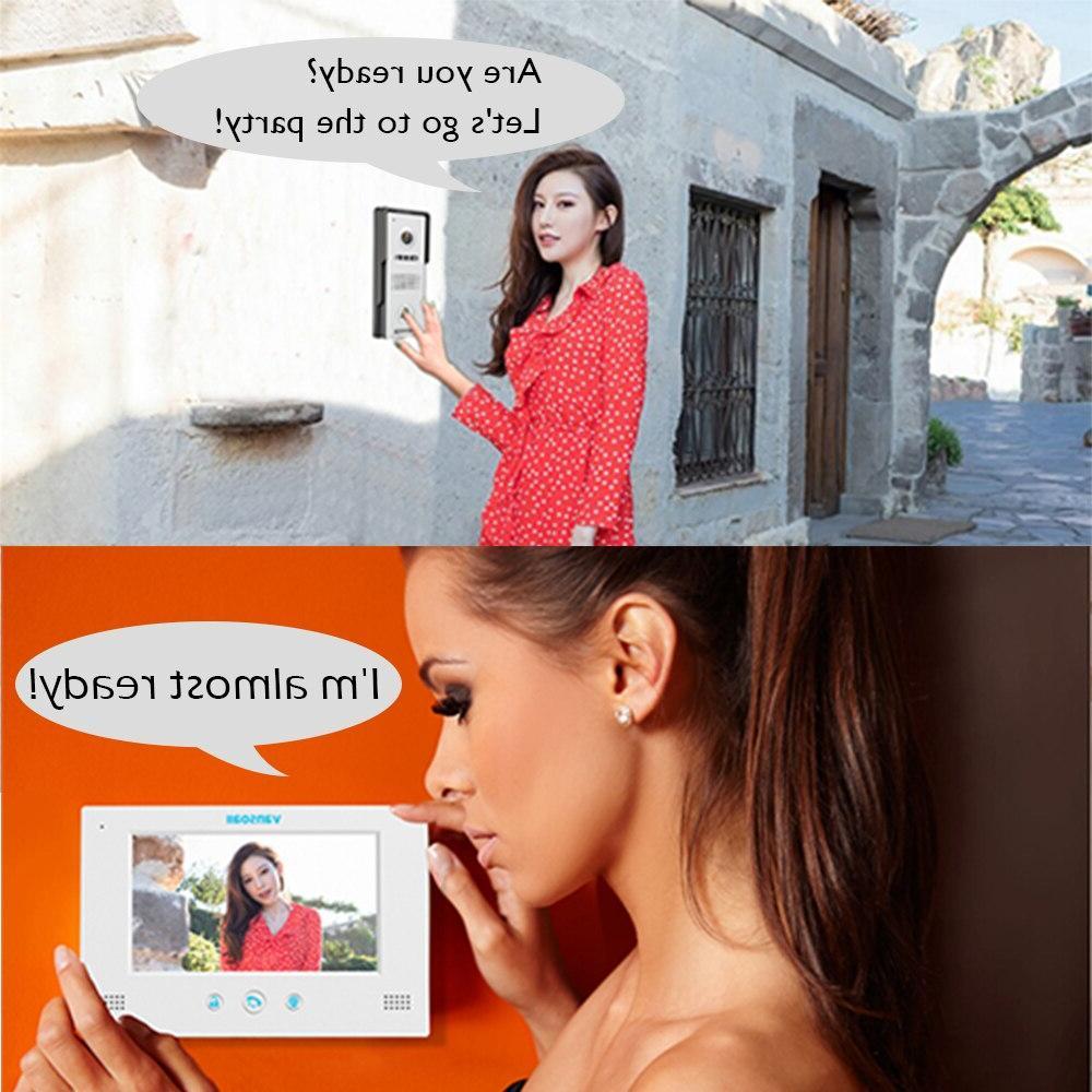 VANSOALL Door <font><b>Doorbell</b></font> Wired <font><b>Video</b></font> System Door