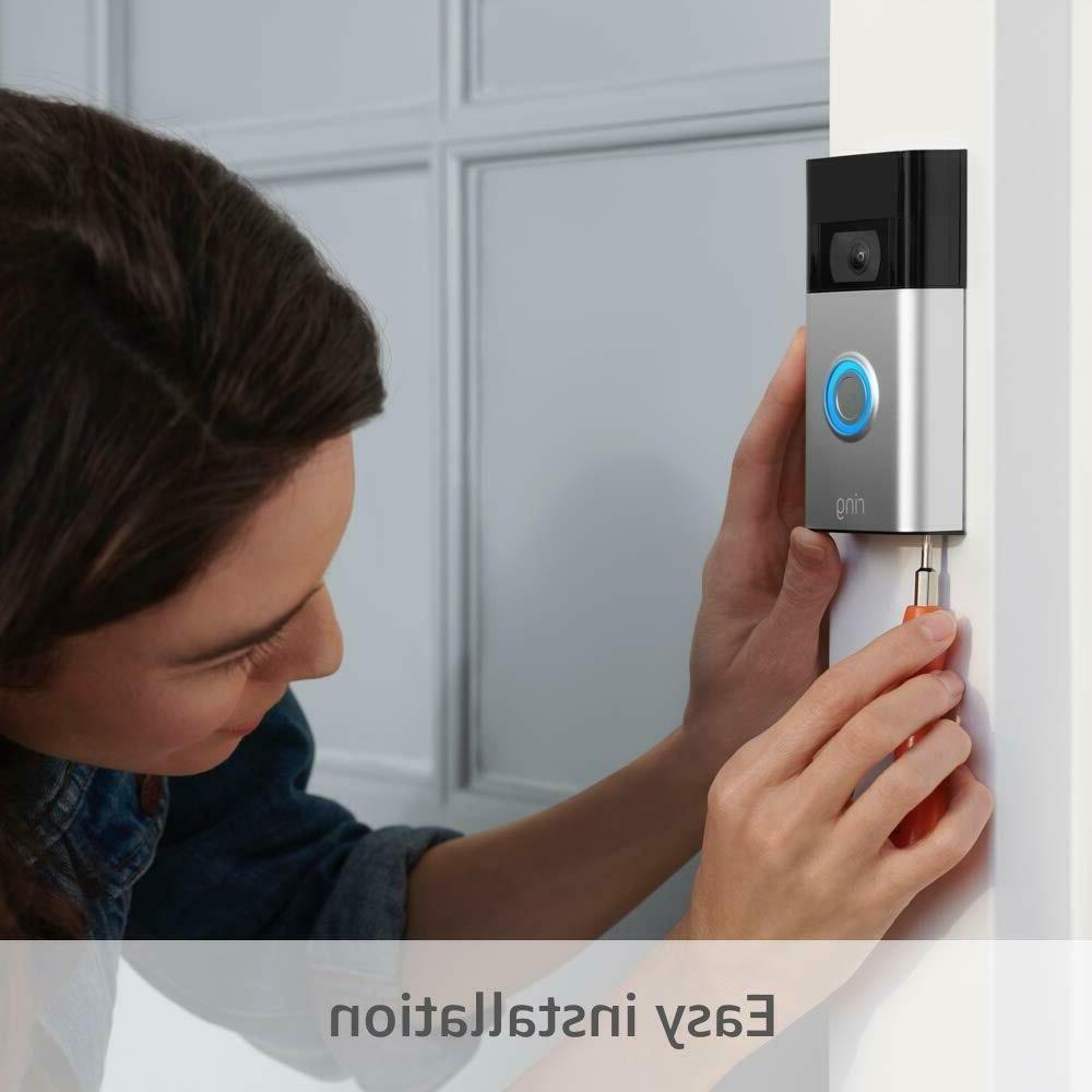 Ring Video Doorbell - 1080p - Nickel -