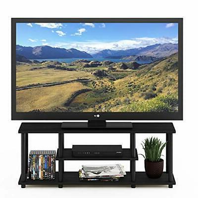 3D 3-Tier TV Stands, Walnut