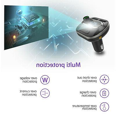 Wireless Bluetooth Car FM Adapter Charger