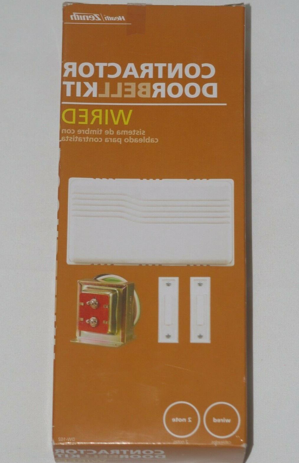 heath zenith contractor doorbell kit wired dw