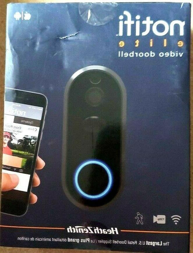 heath zenith notifi elite hardwire video doorbell