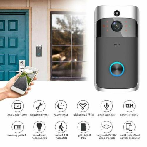 Smart Wireless Door Bell Wifi Doorbell IR Security Camera Vi
