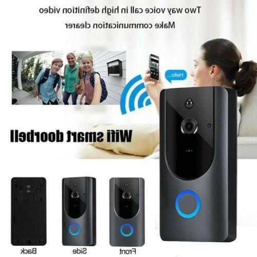 home smart wifi doorbell wireless ir video